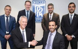الصورة: اتفاقية لصيانة محركات الطائرات بين «سند» و«رولز رويس» بـ 23 مليار درهم