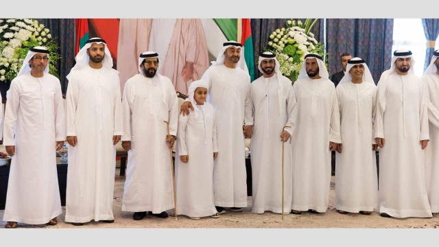 Mohammed bin Zayed attends reception of Sultan Al - Khattari