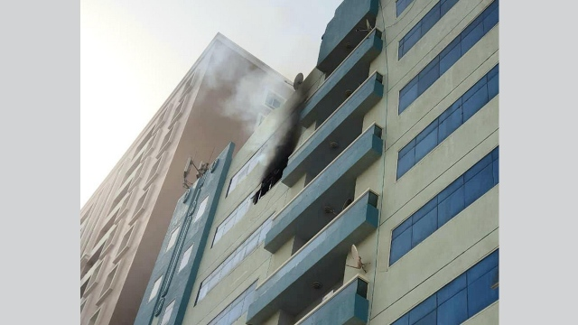 Two fires and a gas cylinder explosion in Ajman without