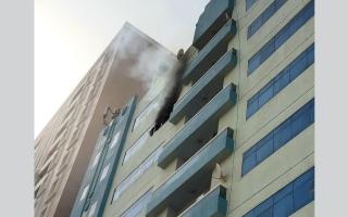 الصورة: حريقين وانفجار اسطوانة غاز في عجمان دون إصابات