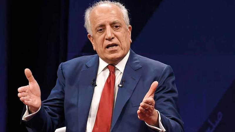 زلماي خليل زاده يرعى المفاوضات  بين «طالبان» والحكومة الأفغانية. غيتي