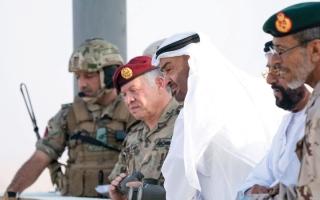 محمد بن زايد وعبدالله الثاني يشهدان جانباً  من التمرين العسكري المشترك «الثوابت القوية/1»
