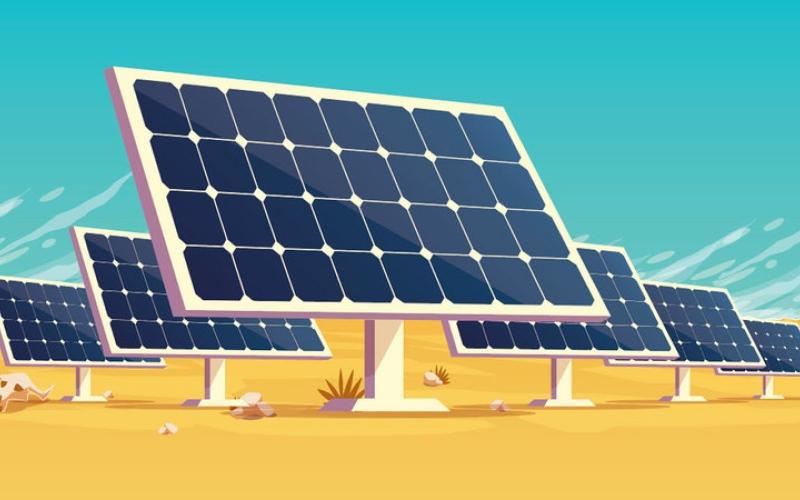 الصورة: بالغرافيك.. «نور أبوظبي».. أكبر محطة طاقة شمسية في العالم