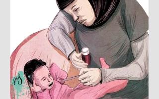 الصورة: الطفل «راشد» يعاني عيباً خلقياً منذ الولادة