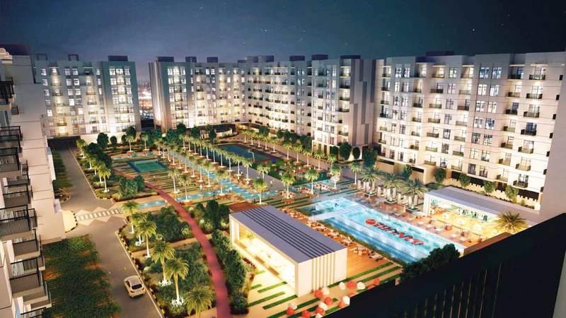 المشروع يتكون من 1064 وحدة سكنية. من المصدر