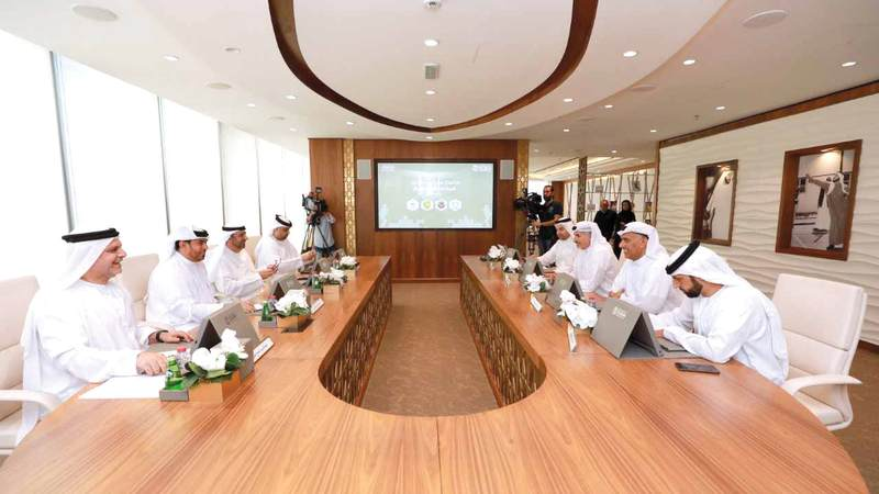 خلال اجتماع مجلس دبي الرياضي مع شركات كرة القدم. من المصدر