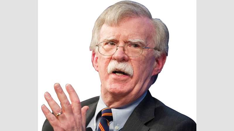 بولتون قال إن لديه معلومات بأن وكلاء إيران يستعدون لضرب المصالح الأميركية. أ.ب