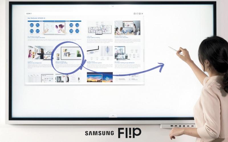 الصورة: «سامسونغ» تكشف عن الجيل الجديد من تلفاز Flip