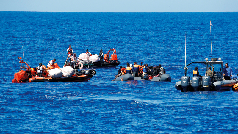جرى في الأسابيع الأخيرة إنقاذ عشرات المهاجرين قبالة السواحل التونسية.  أرشيفية
