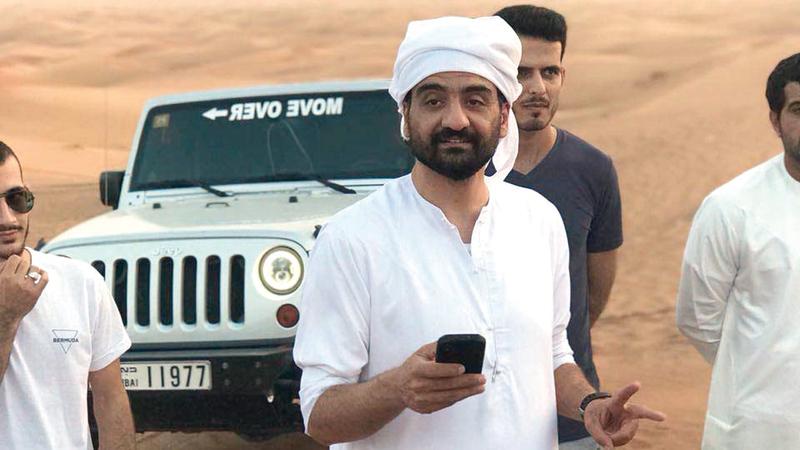 قائد ومؤسس فريق «إنقاذ الإمارات» علي الشمري. من المصدر