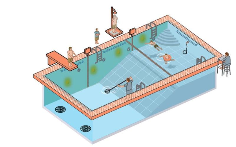 الصورة: بالغرافيك.. 19 معياراً لـ «حوض السباحة» الآمن