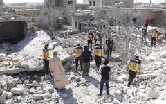 الصورة: استمرار القصف الجوي شمال غرب سورية.. ومقتل 14 مدنياً
