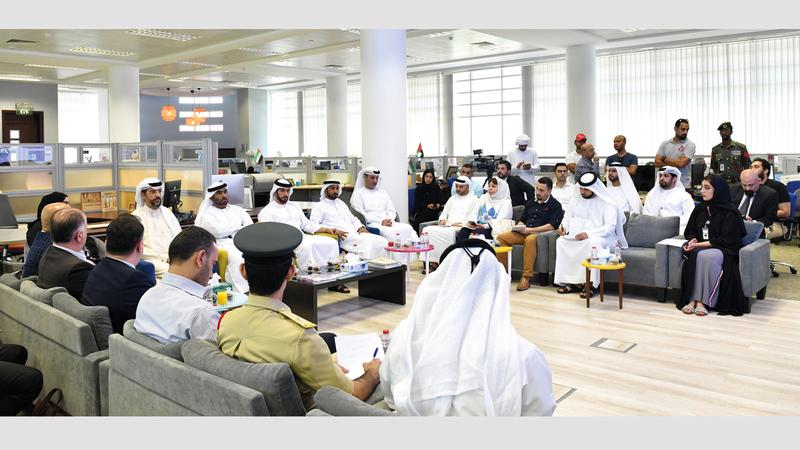 شرطة دبي خلال الإعلان عن إطلاق حملة أمن المساكن. من المصدر