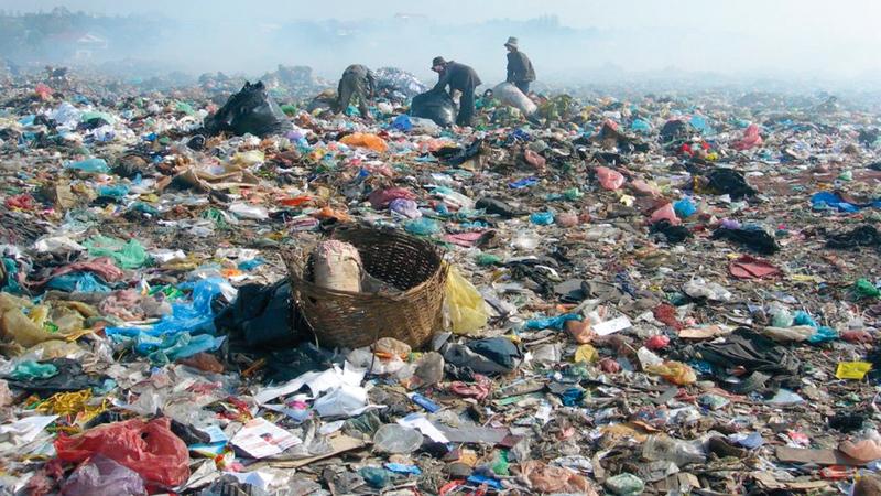 التلوّث بالمواد البلاستيكية في أماكن كثيرة من البلاد. أرشيفية