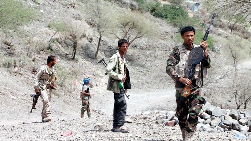 عناصر من قوات الشرعية اليمنية المشاركة في معارك الضالع. أرشيفية