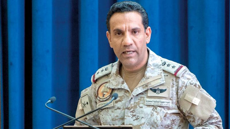 تركي المالكي: «قيادة القوات المشتركة للتحالف ستتخذ الإجراءات كافة لضرب البنية العسكرية العدائية الإرهابية للميليشيات الحوثية».