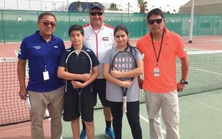 الصورة: منتخب التنس للناشئين يشارك في البطولة العربية