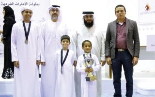 الصورة: الفجيرة تتزين بـ 3 ميداليات في الشطرنج