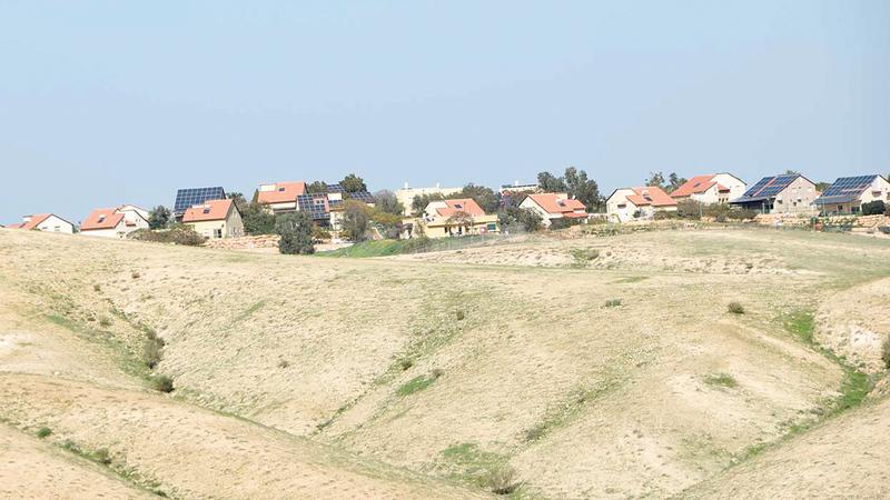 إسرائيل تقيم 31 مستوطنة في الأغوار. من المصدر