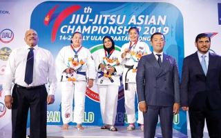 الصورة: بطلات الجوجيتسو يرفعن حصيلة الإمارات  إلى 11 ميدالية في «آسيوية منغوليا»