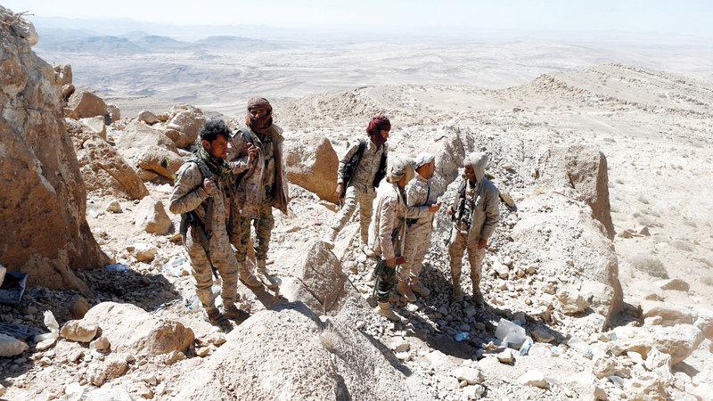 قوات الشرعية اليمنية تواصل التصدي للميليشيات الحوثية في جبهات عدة. أرشيفية