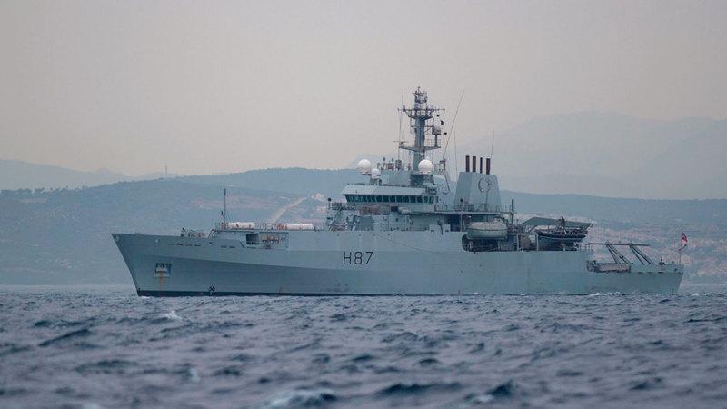 وحدة عسكرية تابعة للبحرية البريطانية في مضيق هرمز. أ.ف.ب