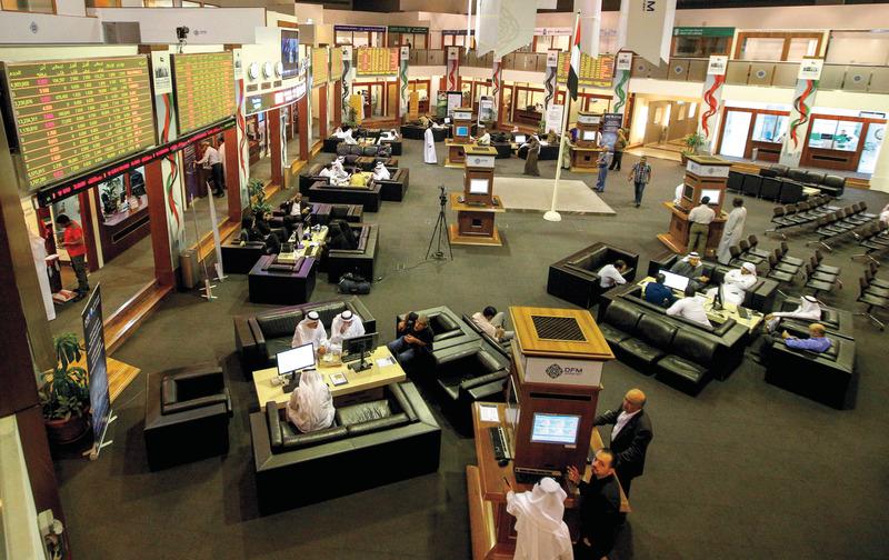 سوق دبي المالي ربح نحو 4 مليارات درهم أمس. تصوير: أشوك فيرما