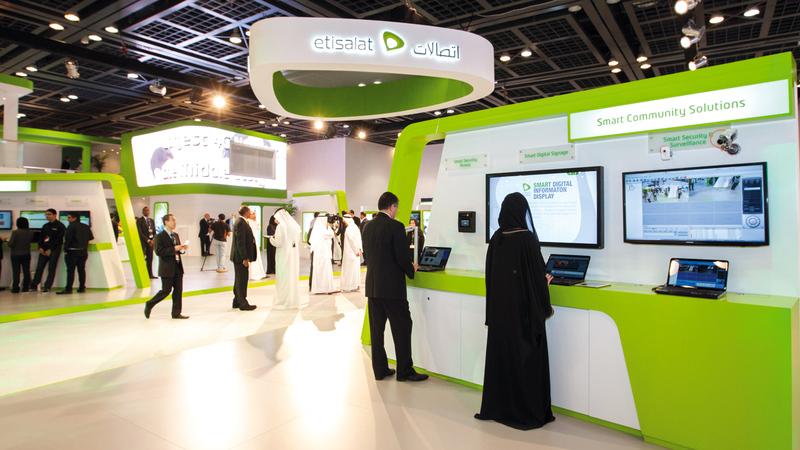 12.4 مليون مشترك قاعدة مشتركي «اتصالات» في دولة الإمارات خلال النصف الأول من عام 2019. تصوير: أحمد عرديتي