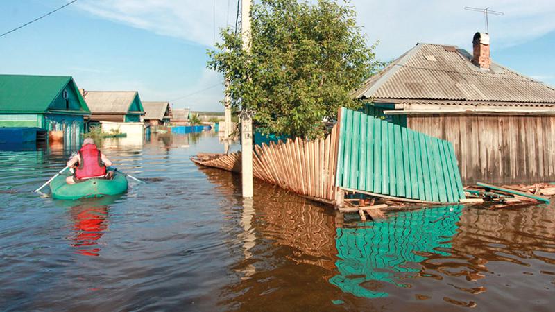 مياه الفيضانات غمرت أحياء بأكملها. أرشيفية