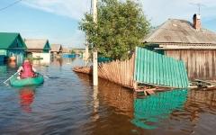 الصورة: حالة تأهب قصوى في مقاطعة روسية بسبب الفيضانات