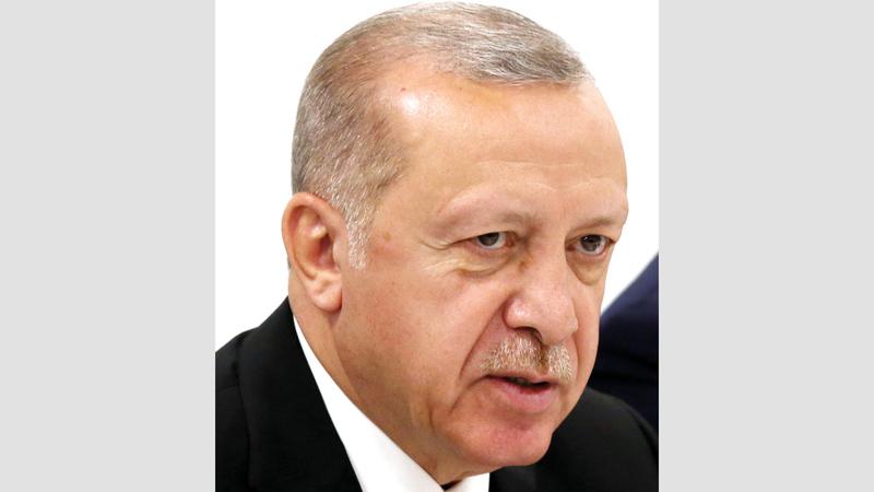 أردوغان يمكن أن يضع العقبات أمام المحافظين الجدد. غيتي