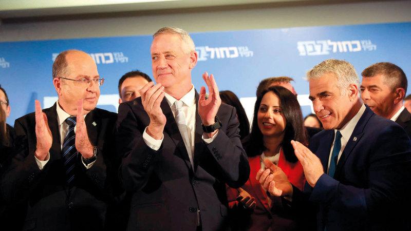 قادة حزب «أبيض أزرق» يكثفون ضغوطهم من أجل تغيير الخريطة السياسية في إسرائيل.  أرشيفية