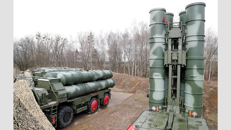 منظومة صواريخ «إس 400» الأكثر تطوراً في العالم. أرشيفية - رويترز