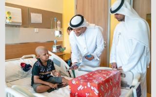 الصورة: «تنمية المجتمع» في أبوظبي تدعم الأطفال المرضى معنوياً
