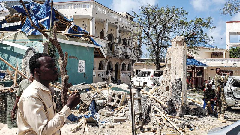 التسجيل الصوتي أكد أن التفجيرات في الصومال تعزز مصالح قطر. أرشيفية