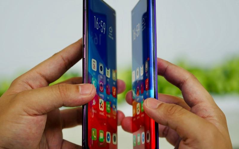 الصورة: «اوبو» تكشف عن هاتف بشاشة Waterfall Screen