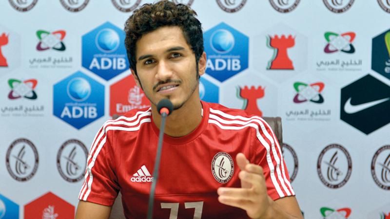 لاعب الوحدة خليل إبراهيم. من المصدر