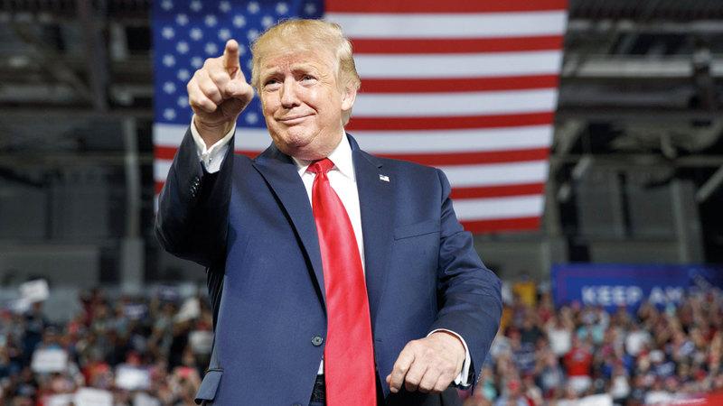 ترامب يحاول إلقاء الضوء على الأدوار السلبية التي تقوم بها وزارة الخارجية الإيرانية. أ.ب