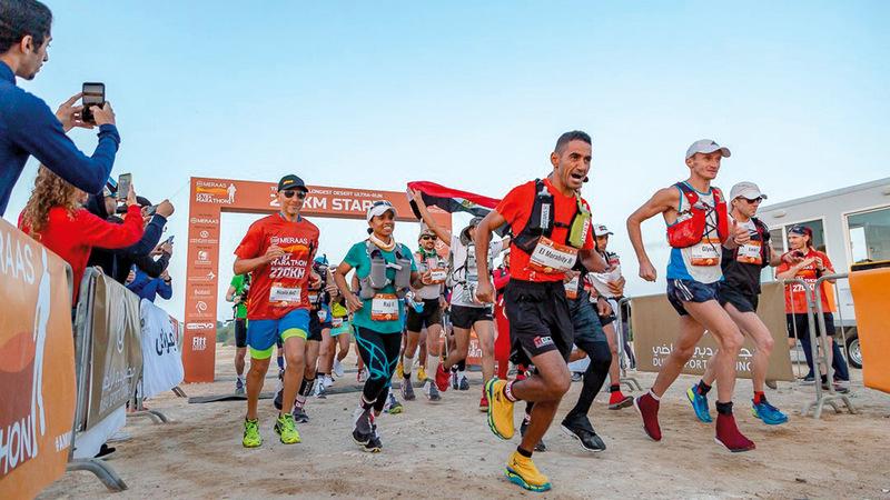 أبطال العالم يعودون للتنافس على لقب أطول سباق صحراوي. من المصدر