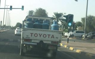 الصورة: لقطة: أسطوانات الغاز