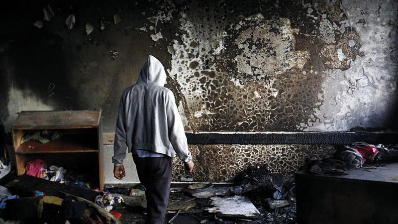 منزل الدوابشة تم حرقه مع العائلة. أرشيفية