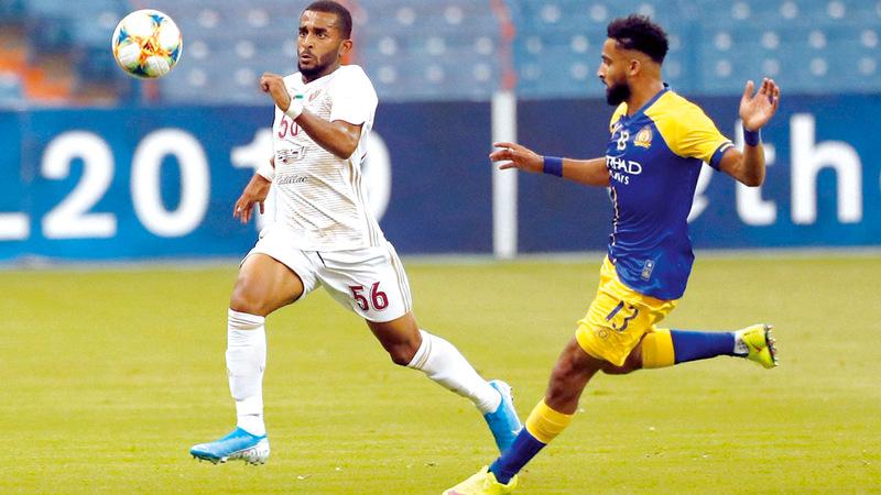 الوحدة قدم مباراة كبيرة أمام النصر السعودي في دوري أبطال آسيا. من المصدر