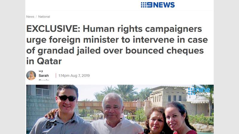 لقطة شاشة لتقرير «9NEWS» حول الجد جوزيف. من المصدر
