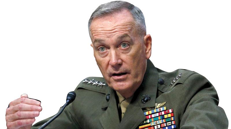 جوزيف دانفورد: «تنظيم (داعش) انهزم لكنه يظل خطراً».  أرشيفية
