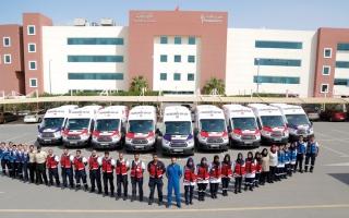 الصورة: 1278 من الكوادر الإسعافية مستعدون للاستجابة السريعة في دبي