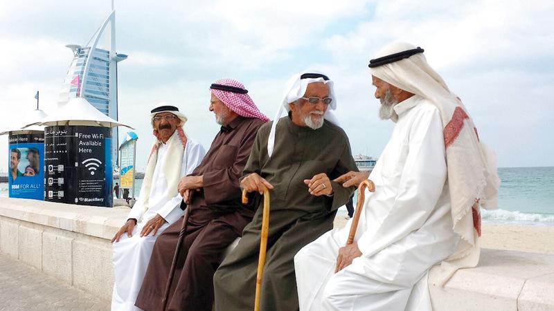 «وطني الإمارات» تؤكد أهمية إشراك كبار المواطنين في الأنشطة والرحلات. أرشيفية