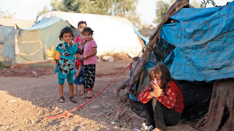 الأطفال أول ضحايا الحرب السورية ولا يحصلون على مساعدة تذكر. أ.ف.ب