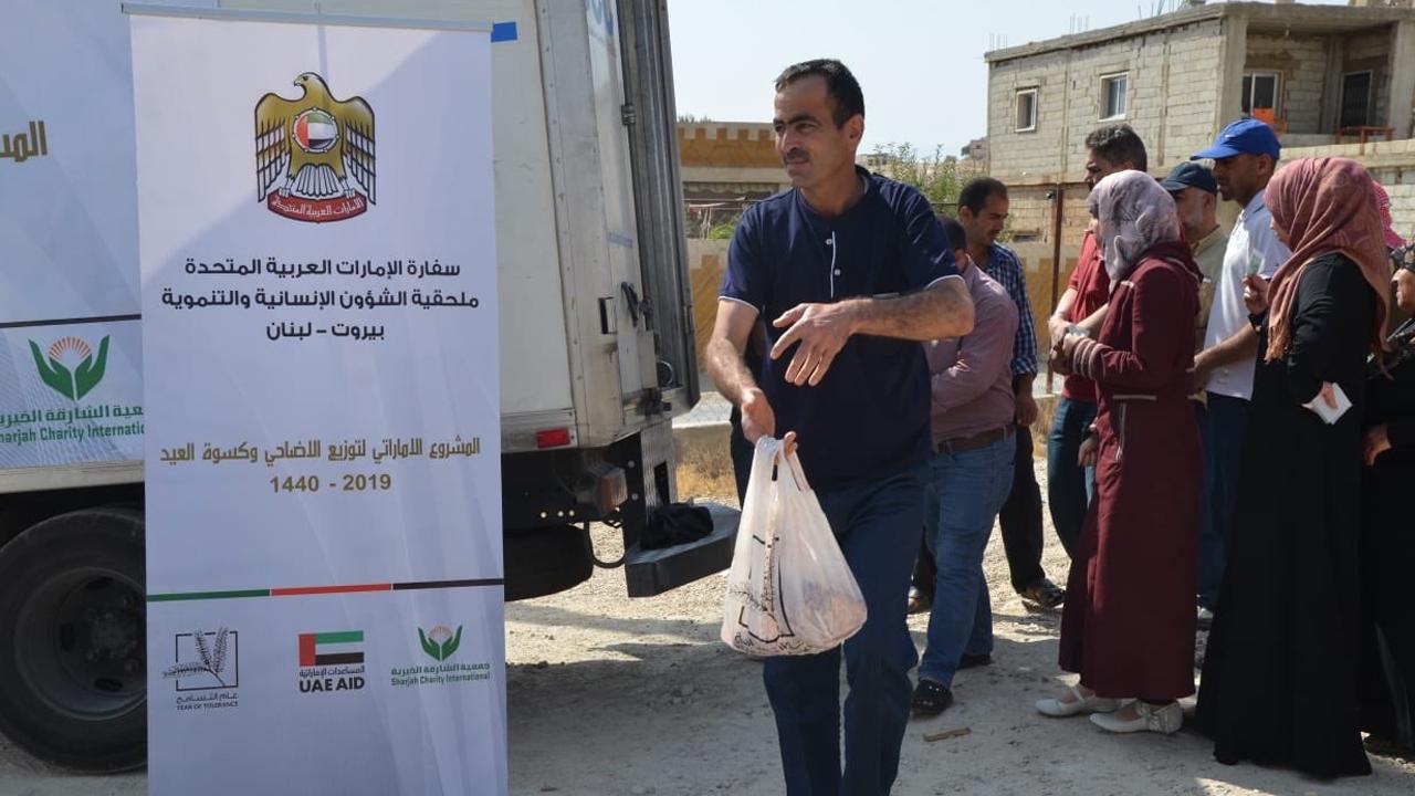 توزيع الأضاحي في بيروت. من المصدر