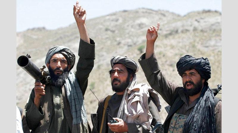«طالبان» لن تلقي سلاحها فيما لو توصلت إلى اتفاق مع أميركا وستوجهه إلى الجيش الأفغاني. أرشيفية
