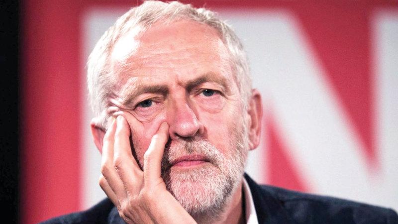 جيرمي كوربن لا يحظى بشعبية لدى البريطانيين لتولي منصب رئيس الوزراء.  أرشيفية
